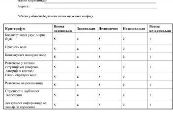 ISO Anketa - zadovoljstvo korisnika